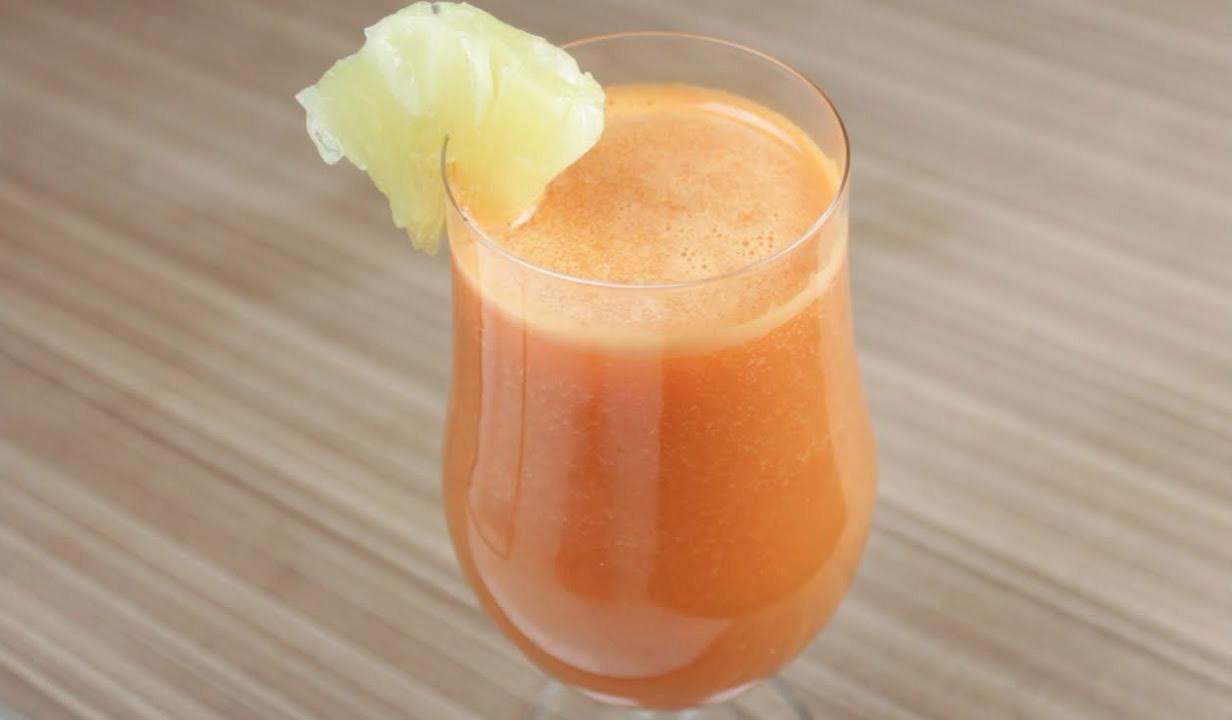 Suco de Abacaxi com Cenoura – Detox