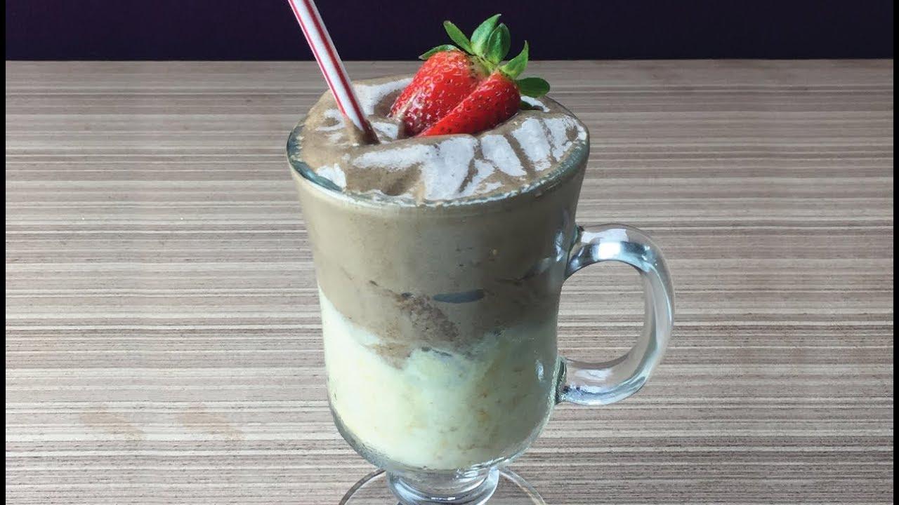 Milk Shake Fit de Banana com Chocolate