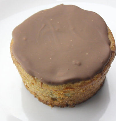 Muffin Fit de Banana com Cobertura de Chocolate