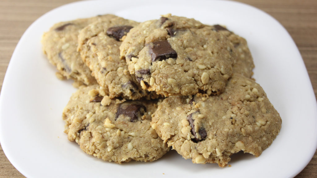 Cookie Fit de Amendoim com Chocolate