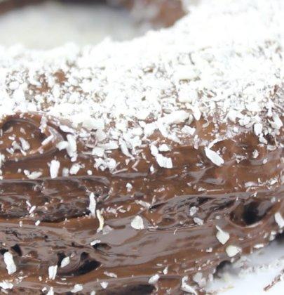 Bolo Fit Prestígio (Chocolate com Coco)