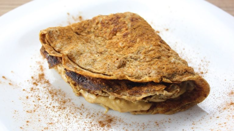 Crepe Doce Fit com Pasta de Amendoim