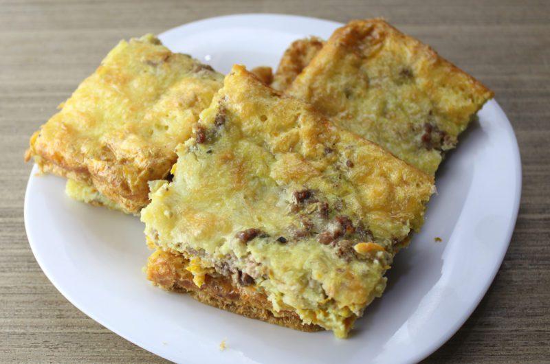 Torta de Tapioca com Carne