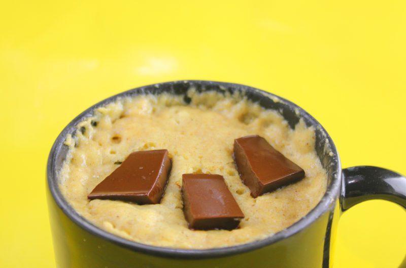 Bolo Fit de Caneca de Banana com Chocolate