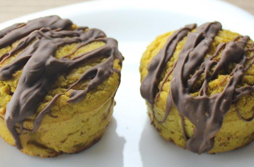 Muffin Fit de Cenoura com Chocolate