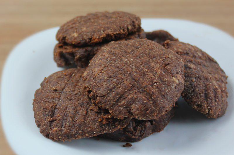 Biscoito Fit de Chocolate com 3 Ingredientes