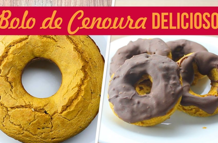 Bolo e Donut de Cenoura Fofinho e Sem Açúcar