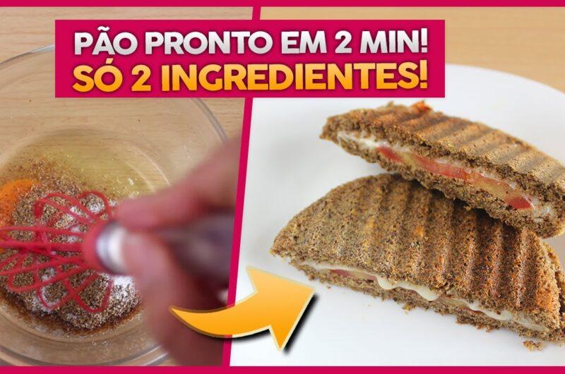 Pão Low Carb de 2 Ingredientes