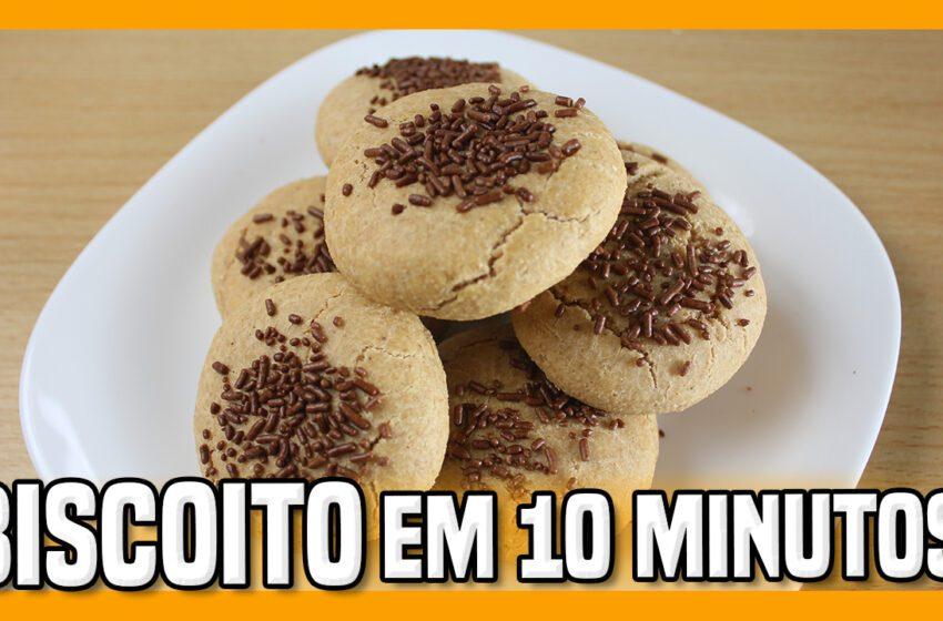 Biscoito Sem Açúcar em 10 Minutos